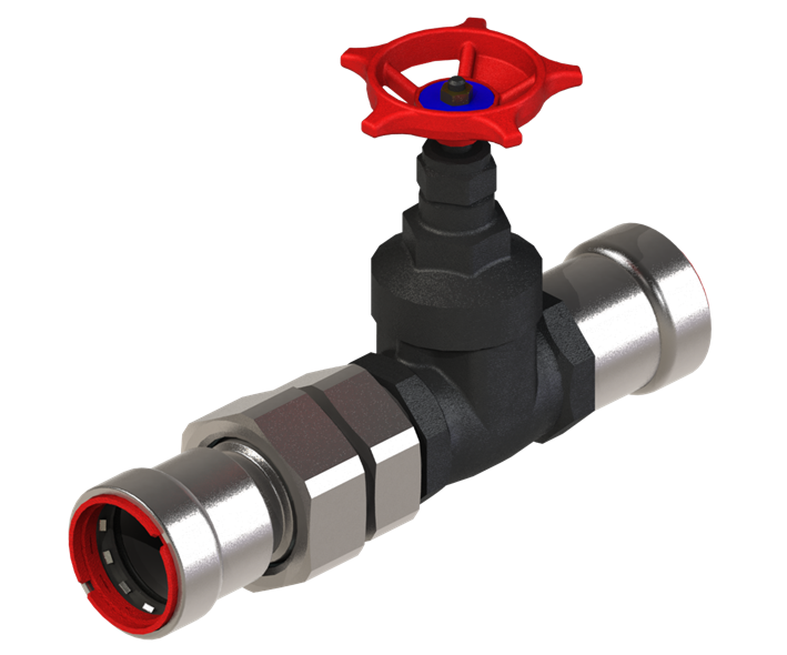 image for PPSU1070_125 gate valve with union connection