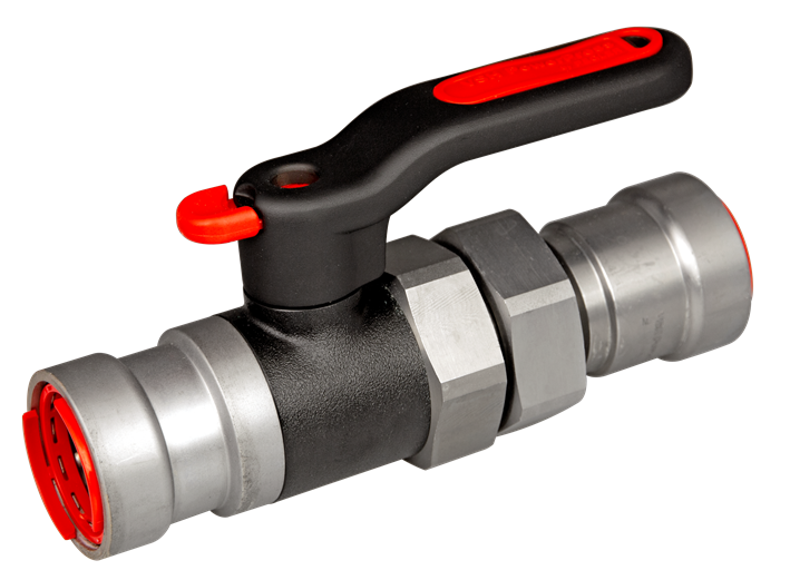 image for PPU550 ball valve with union connection