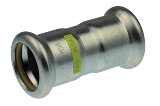 VSH XPress Stainless Gas straight coupling (2 x press)