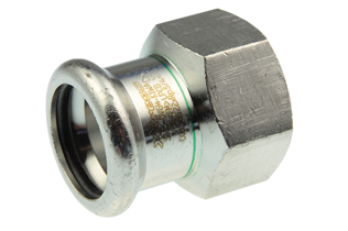 VSH XPress Stainless straight connector (press x female thread)