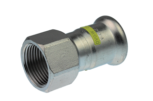 VSH XPress Stainless Gas straight connector (press x female thread)