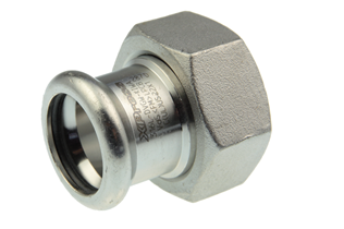 VSH XPress Stainless coupling with nut (press x female thread)