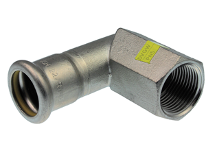 VSH XPress Stainless Gas angle adapter 90º (press x female thread)